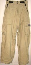 Women's Snowboard Ski Pants Turnstyle Size Extra Small XS Beige Tan Lined