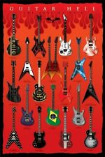 """GUITARS HELL laminated POSTER """"MEGADETH, JAMES HATEFIELD"""" LICENSED """"BRAND NEW"""""""