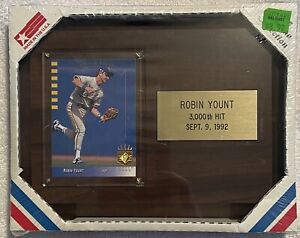 Robin Yount 3000th Hit Sept. 9th , 1992 Upper Deck Starline Collection Plaque