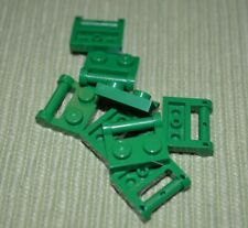 (8) Green 1x2 Plate with Handle Bricks ~ Lego  ~ NEW ~ Castle