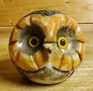 Genuine Alabaster Owl Paper Weight
