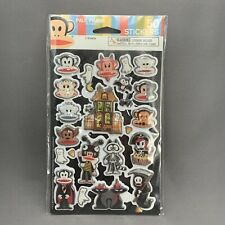 Paul Frank Halloween Stickers Lot of 2 Two Sheet Packs of 50 Rare Retired Target