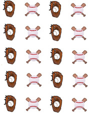 Baseball / Softball  Waterslide Nail Decals/ Nail Art