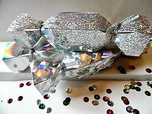 5 or12 SMALL Cracker Favour Box Holographic Christmas CHECK SIZE  MULTI-BUY