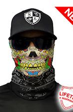 SA CALAVERA Skull Face Shield Mask Balaclava Head band Beanie Bandana do rag