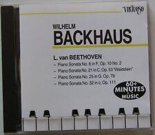 WILHELM BACKHAUS  (CD)  BEETHOVEN - PIANO SONATA