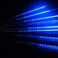30/50cm 144/240 LED Meteor Shower Rain Lights Waterproof Tubes String Xmas Blue