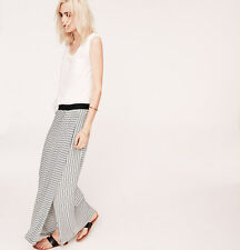 NWT Ann Taylor Loft Lou & Grey Black & White Striped Ruch Maxi Long Skirt $54 XL