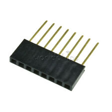 50pcs 2.54mm Pitch 8 Pin Single Row Stackable Shield Female Header for Arduino