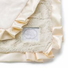 "NEW Kathy Ireland Baby Cream Patchwork Blanket 24"" x 24"" Little Miracle Soft"
