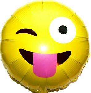 R36F8 Helium Folienballon Zunge zeigen Emoji Hochzeit Deko Geburtstag Geschenk