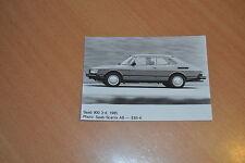 PHOTO DE PRESSE ( PRESS PHOTO ) Sabb 900 3 portes 1985 SA092
