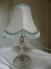 Lampe en cristal taillé