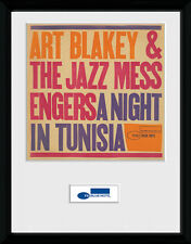 Blue Note Tunisia Music Jazz Framed Poster Print Photo 40x30cm | 12x16 inches