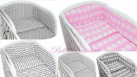 3 pcs BABY BEDDING SET/Bumper/Pilowcase/Duvet Cover  to  fit COT or COT BED /