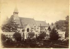 Angleterre, Portsmouth, L'église de Wymering, ca.1880, vintage albumen prin