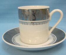 "Tea Cup & Saucer Vintage Porcelana Brazil Real Collectible White Silver 2.5"""