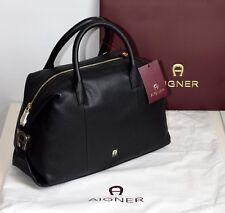 AIGNER Damen Tasche ROMA Leder black Neu