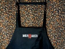 kitchen apron bib bbq marilyn manson patch heavy metal rock gift chef one size