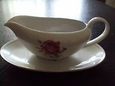 Vintage Imperial Rose Fine China Gravy Boat Underplate Japan #6702