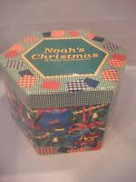 NOAH'S ARK 12 CHRISTMAS BALL AND STARS ORNAMENT BOXED SET  NEW IN ORIGINAL BOX