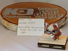 Littlest Pet Shop Brown and Beige Fox #807 Authentic LPS
