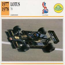 1977-1978 LOTUS 78 Racing Classic Car Photo/Info Maxi Card