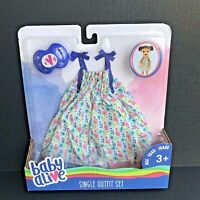 Baby Alive Doll Clothes - Dress & Pacifier Set - Single Outfit Set - NEW -A1