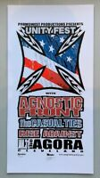 Agnostic Front Concert Poster Mike Martin S/N Cleveland 2002