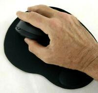 Tapis de souris optique Noir Neuf scelle avec repose poignet confort coussin