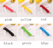 Cute Folding Pocket Fruit Ceramic Knife Sharp Home Kitchen Keychain Outdoor dd