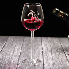 2pcs Seahorse High Glass Red Wine Cup Goblet Wine Cocktail Glasses 300ml