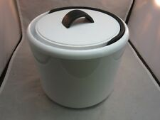Vtg BODUM black and white contemporary plastic ice bucket made in Italy