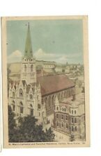 1949 postcard-St. Mary's Cathedral and Parochial Residence, Halifax, Nova Scotia