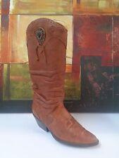 ZODIAC-CARSON Womens Brown Leather Cowboy Boots US 9M