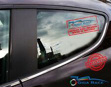 alfa romeo mito adesivi sticker decal montanti porte tuning carbon look vinile