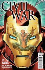 CIVIL WAR #1 RARE NEWBURY VARIANT NM SECRET WARS SPIDERMAN