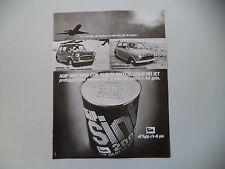 advertising Pubblicità 1973 OLIO AGIP SINT e MINI 1000