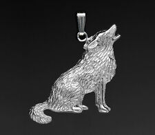 Pendentif LOUP - Pendant With WOLF - Argent Massif  925/1000