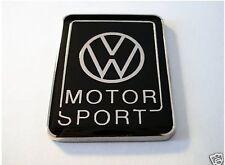 Enamel Chrome Black VW MOTOR SPORT Car badge Volkswagen Golf Polo
