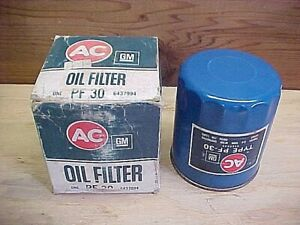 59 - 78 GM GMC NOS/NORS AC PF30 Oil Filter