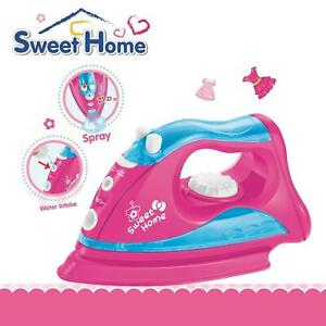Children Pretend Play Household Toy Iron with Light and Sprinkle Effect