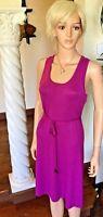 Lole New S Sophie Dress Purple Lilac Tie-Waist Knit Belted Summer Dress $80 NWT