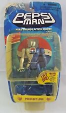 "1998 Pepsi Man Action Figure Blue Model Japan ""Pepsi.co.jp"" Head Change, Worn"