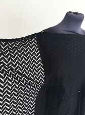 Jet Black Medium Weight Chevron NON Stretch PolyCotton Lace  Dressmaking Fabric