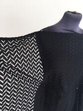 Jet Black poids moyen Chevron Non Extensible Polyester/coton dentelle couture tissu