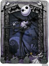 Disney Nightmare Before Christmas Jack's Graveyard Throw Micro Raschel Blanket