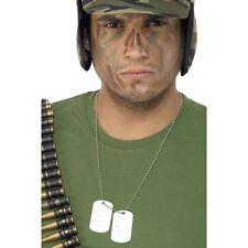 Dog Tag Army Soldier The a Team Fancy Dress Necklace Military Accessory