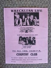 Guns & Roses Early Oct 18th 1985 Country Club Concert Flyer Poster Copy #4 Axl