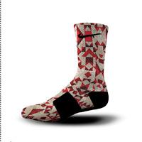 Custom Nike Elite Socks All Sizes RED GROOVES